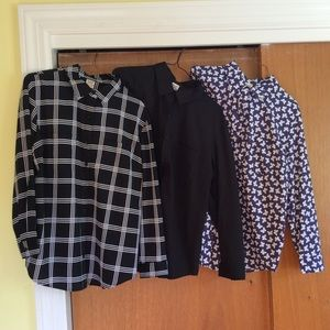 Set of 3 NWT Silky Polyester L Fashion Blouses!